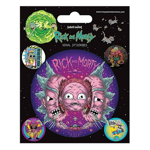 Rick and Morty Psychedelic Visions Vinyl Stickers Set Decals
